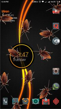 Cockroach on screen Prank poster