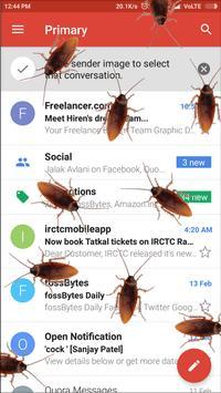 Cockroach on screen Prank apk screenshot
