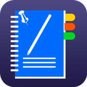 color note with password icon