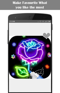 Learn To Draw Glow Flower screenshot 1