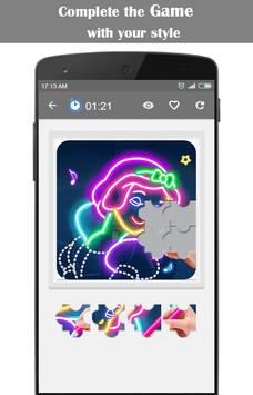 Learn To Draw Glow Flower screenshot 4