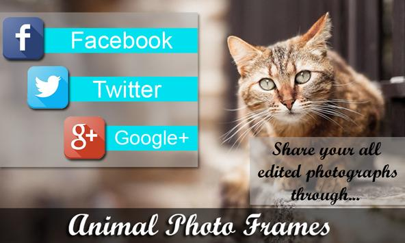 Animal photo frame apk screenshot