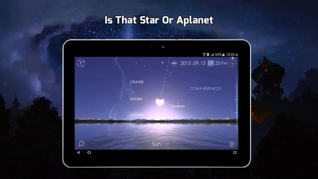 13 Schermata Stella Carta geografica 3D, Notte Cielo Carta geo
