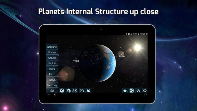 2 Schermata Stella Carta geografica 3D, Notte Cielo Carta geo