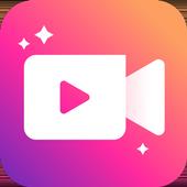 वीडियो मेकर, वीडियो एडिटर, फोटो और संगीत के साथ आइकन