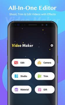 वीडियो मेकर, वीडियो एडिटर, फोटो और संगीत के साथ पोस्टर