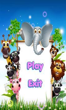 Poster animali del fumetto puzzle
