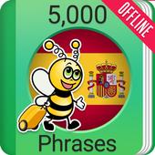 Learn Spanish - 5000 Phrases icon