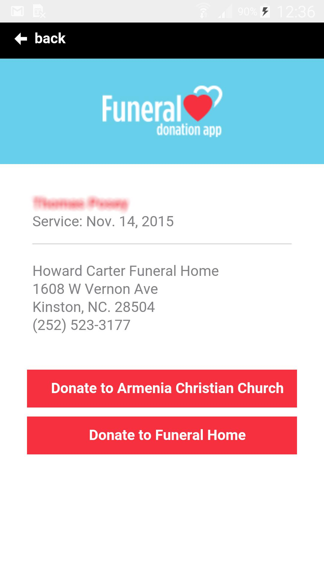 The Funeral Donation App for Android - APK Download