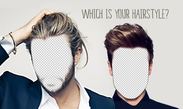Men Hair Style Photo Montager poster