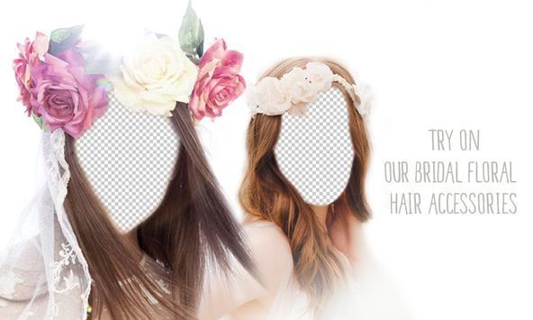 Bridal Flower Headband Montage poster
