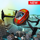 Rescue Drone Taxi Simulator : Taxi Games icon
