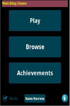Matching Game poster