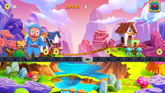 Subway ninja Adventure: hattori Game screenshot 4