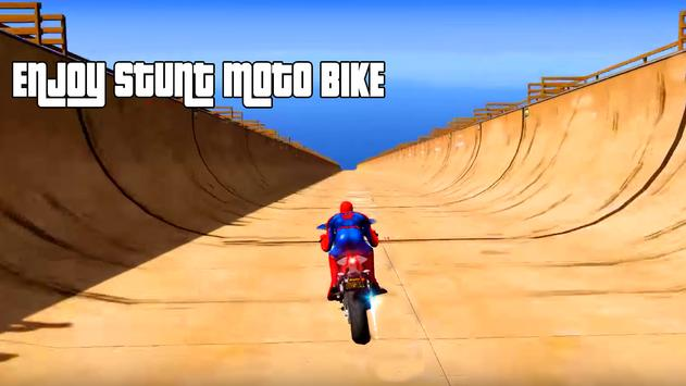 Spiderman Impossible Mega Ramp Bike BMX Track screenshot 2