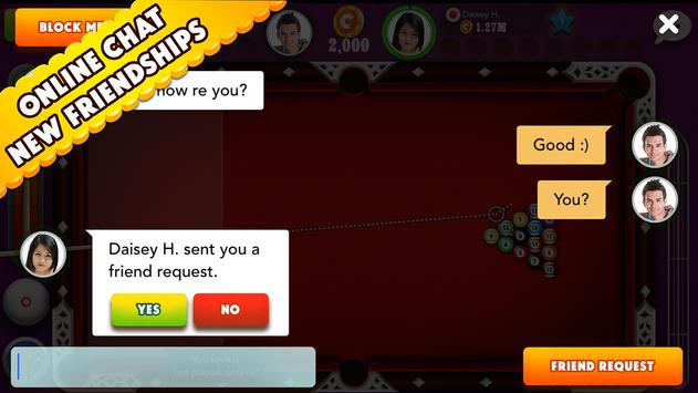 Pool Strike Online 8 ball pool billiards with Chat apk screenshot