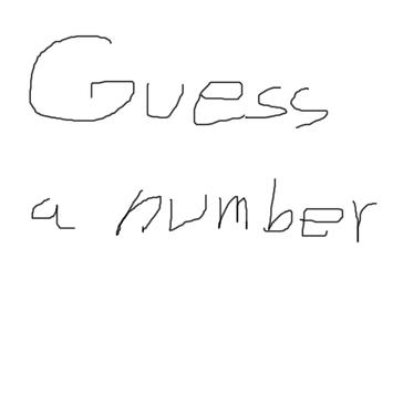 Guess a number poster