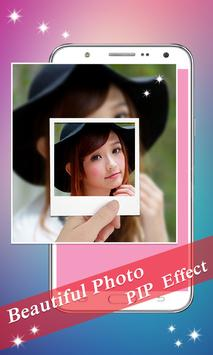 PIP Camera: Sweet Photo Editor Beauty Selfie Lite screenshot 2
