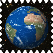 Spinning earth icon