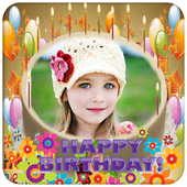 Photo on Birthday Cake – Cakes,Name & Photo Frame icon