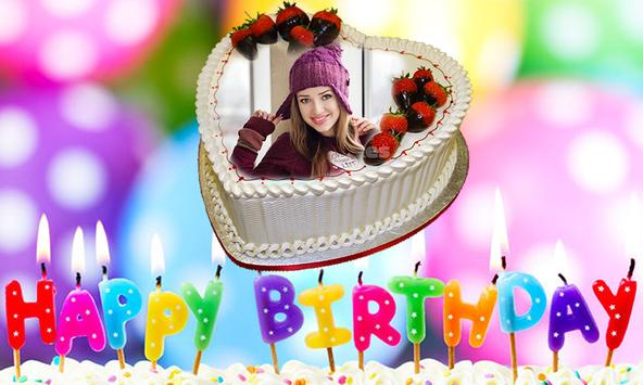 Photo on Birthday Cake – Cakes,Name & Photo Frame screenshot 1