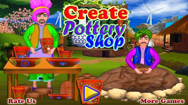 Create Pottery Shop poster