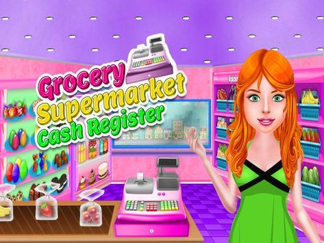 Supermarket Shop Cash Register poster