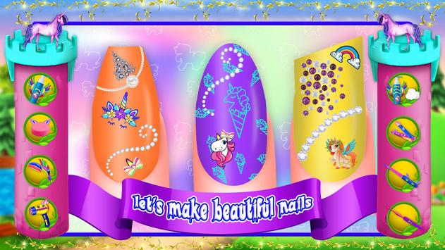 Unicorn Nail Art Salon Girls Games For Android Apk Download