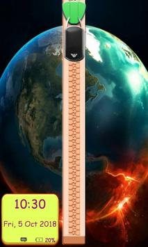 3D Earth Zipper Lockscreen screenshot 2