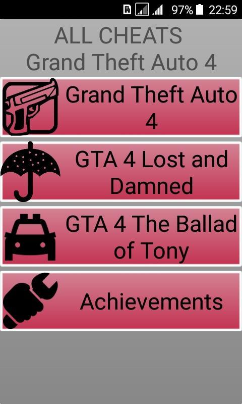 Codes for GTA 4 (PC) for Android - APK Download