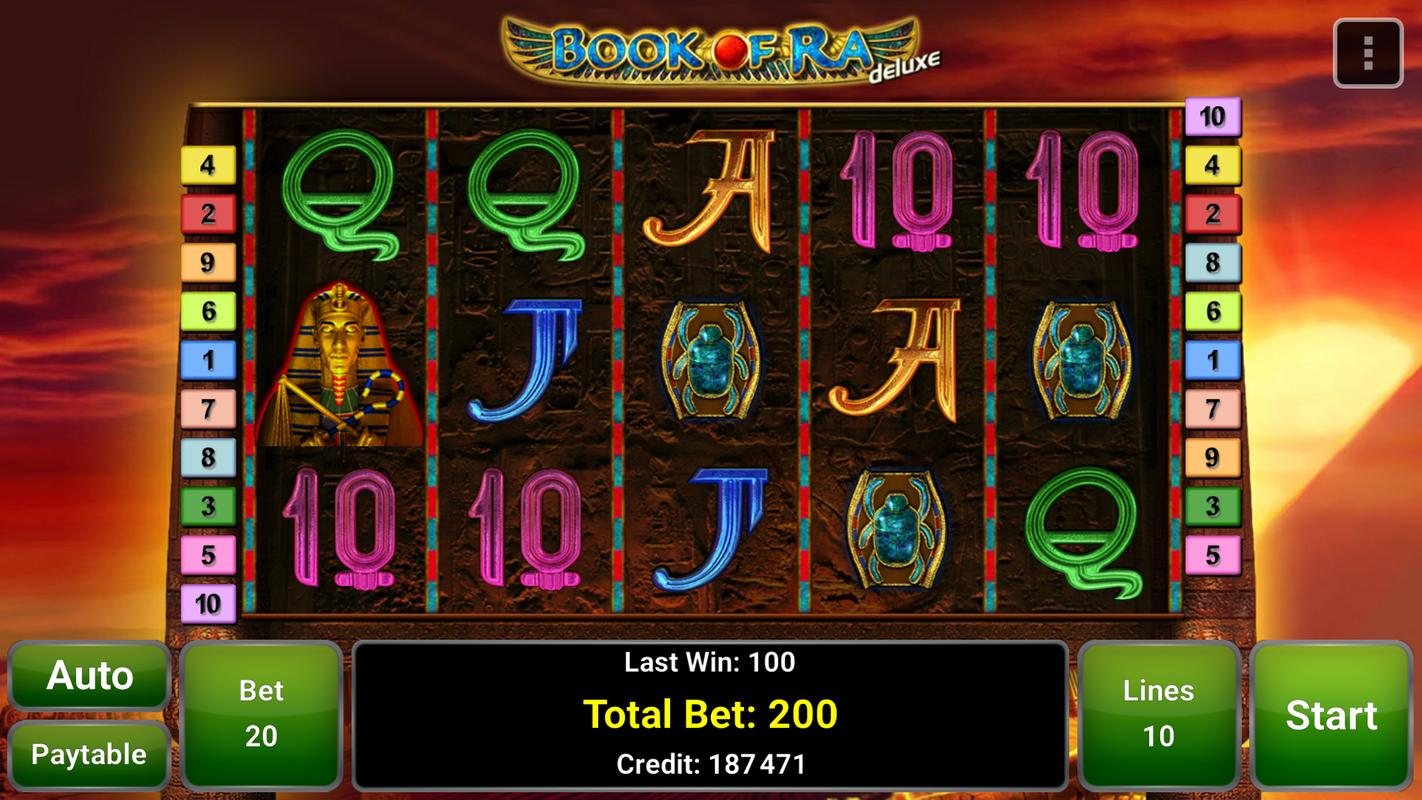 book of ra deluxe casino games
