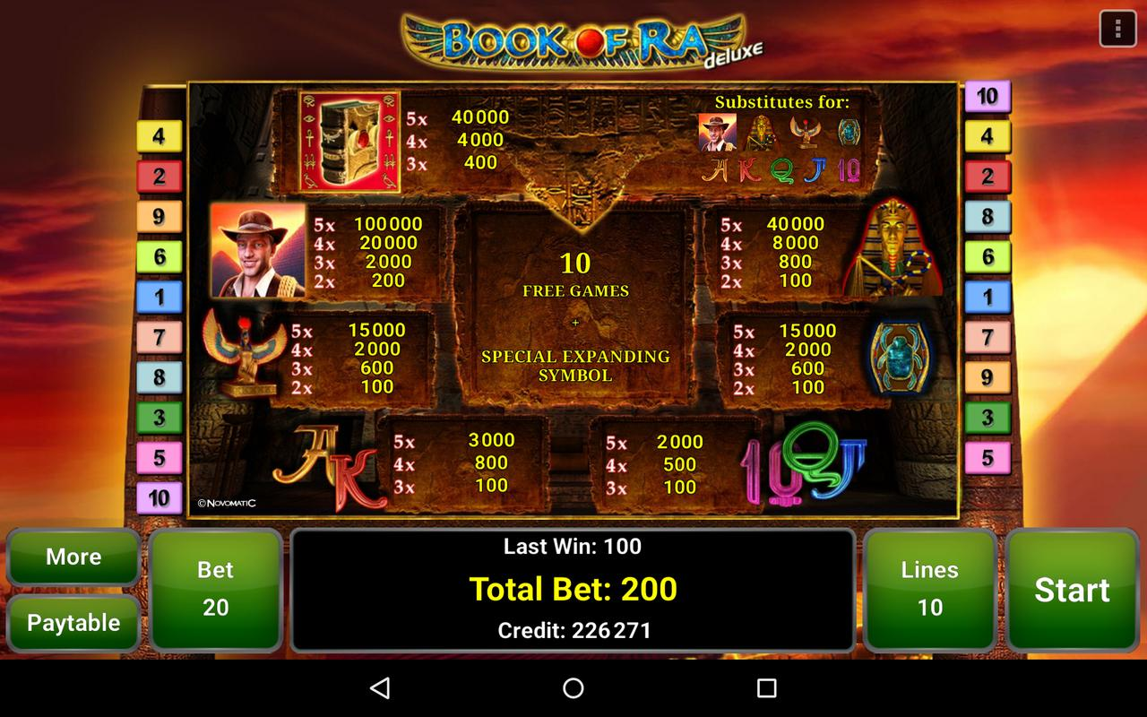 book of ra for android free download