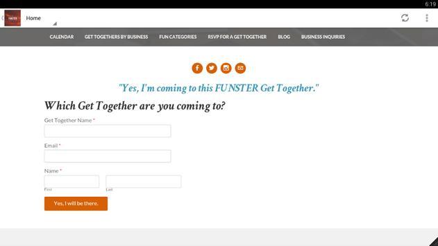 FUNSTER Get-Togethers скриншот 3