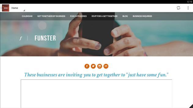 FUNSTER Get-Togethers скриншот 2