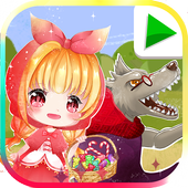 LIttle Red Riding Hood, Bedtime Story Fairytale icon