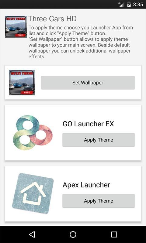 Nova Launcher Theme 3 Cars HD for Android - APK Download