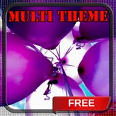 Purple Balloons Launcher Theme icon