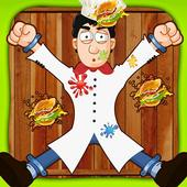 Chef Burger Toss Mania icon