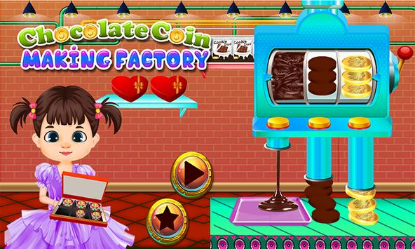 Chocolate Coin Factory: Money Candy Making Games poster