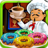 Coffee Maker & Donut Cooking icon