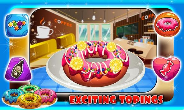 Coffee Maker & Donut Cooking poster