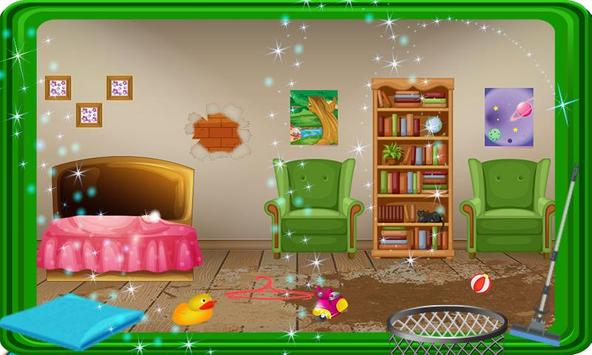Girls Doll House Cleanup screenshot 4