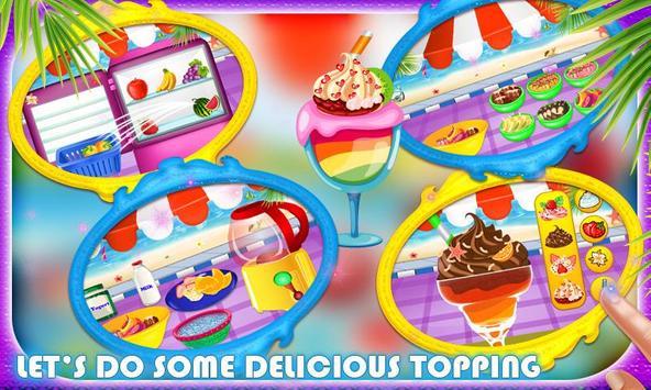 Frozen Dessert Food Stand poster