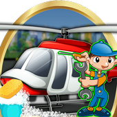 Helicopter Repair & Wash Game icon