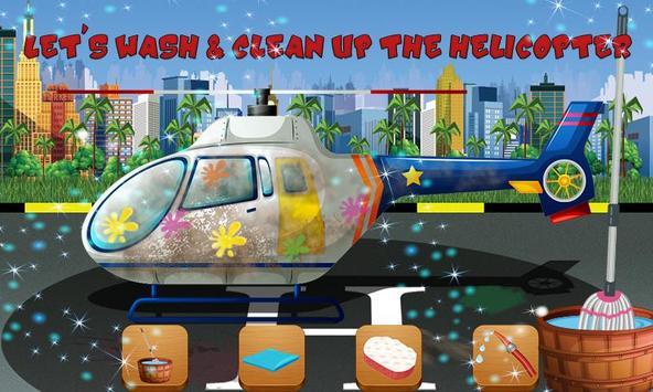 Helicopter Repair & Wash Game apk screenshot