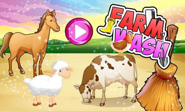 Kids Farm Wash & Clean up screenshot 3