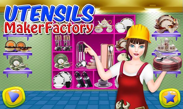 Utensils Maker Factory: Make Plates, Spoon & Fork screenshot 13