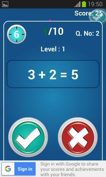 Easy Math Trainer screenshot 1