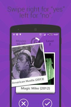 Swipe Movie Quiz apk screenshot