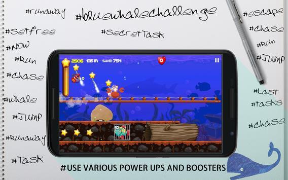 Blue Whale Real Escape Challenge Runner apk screenshot